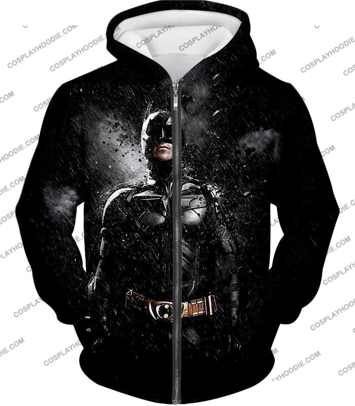 Graphic Promo Ultimate Action Hero Batman Cool Black T-Shirt Bm068 Zip Up Hoodie / Us Xxs (Asian Xs)