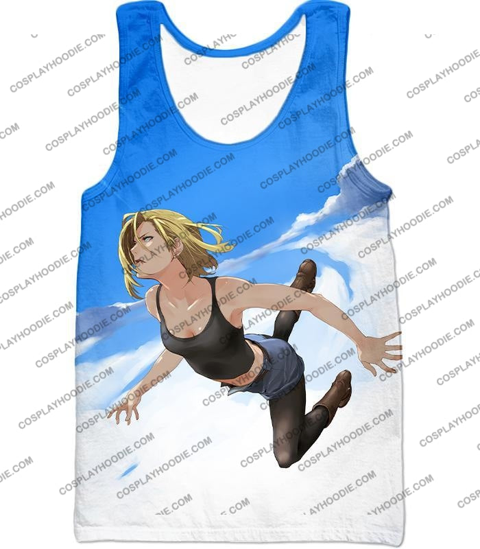 Dragon Ball Super Very Cute Android 18 Cool Graphic Action T-Shirt Dbs068 Tank Top / Us Xxs (Asian