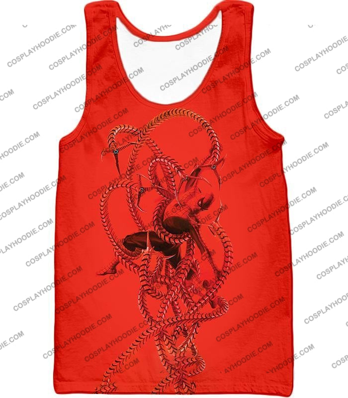 Spiderman In Octopus Claws Cool Red Action T-Shirt Sp068 Tank Top / Us Xxs (Asian Xs)