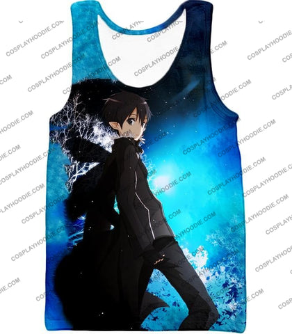 Image of Sword Art Online Kirito The Black Swordsman Sao Cool Anime Graphic Promo T-Shirt Sao068 Tank Top /