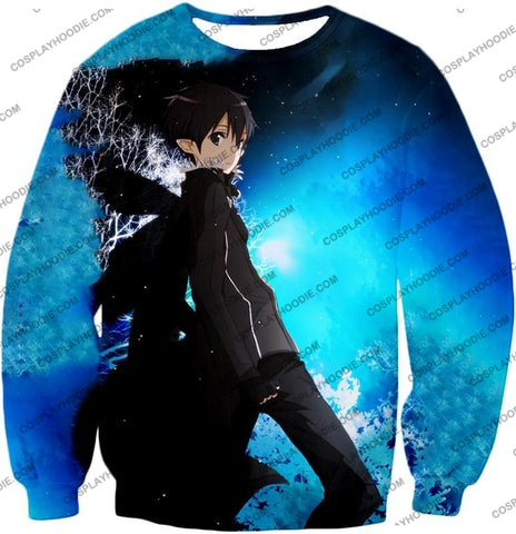 Image of Sword Art Online Kirito The Black Swordsman Sao Cool Anime Graphic Promo T-Shirt Sao068 Sweatshirt /