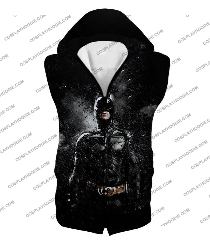 Graphic Promo Ultimate Action Hero Batman Cool Black T-Shirt Bm068 Hooded Tank Top / Us Xxs (Asian