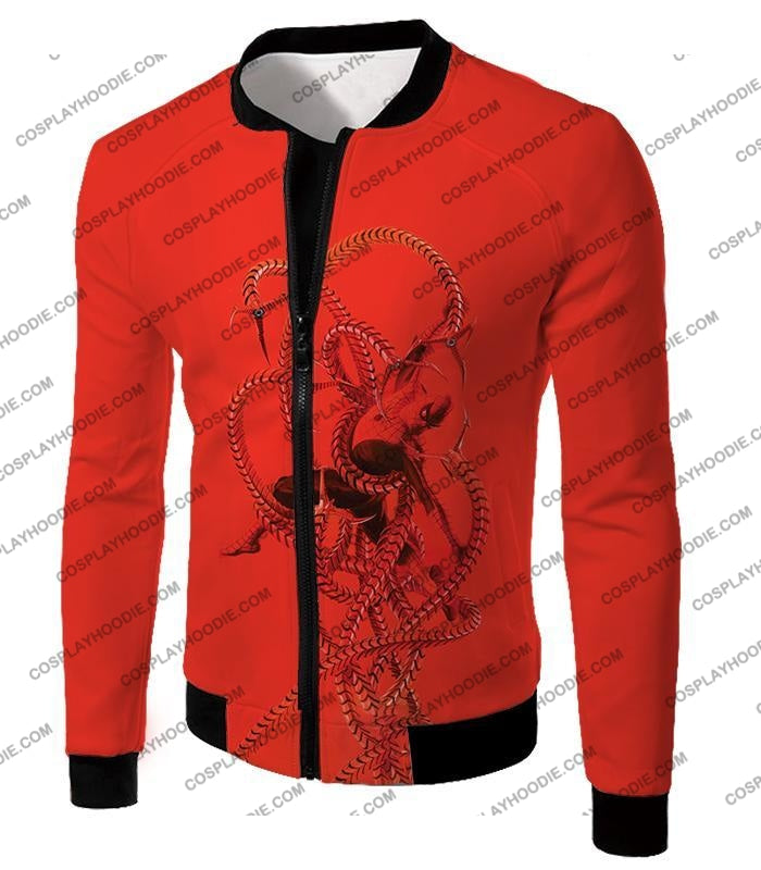 Spiderman In Octopus Claws Cool Red Action T-Shirt Sp068 Jacket / Us Xxs (Asian Xs)