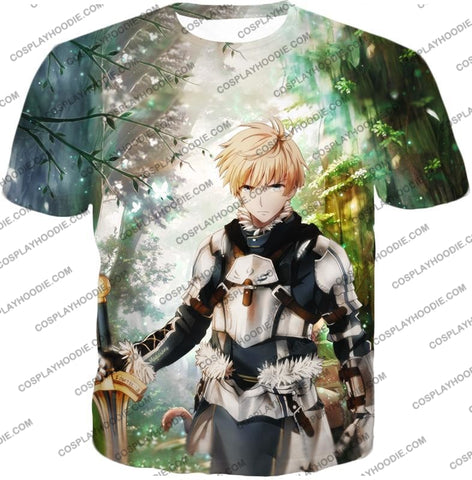 Image of Fate Stay Night Saber Class Male King Arthur Awesome T-Shirt Fsn069 / Us Xxs (Asian Xs)