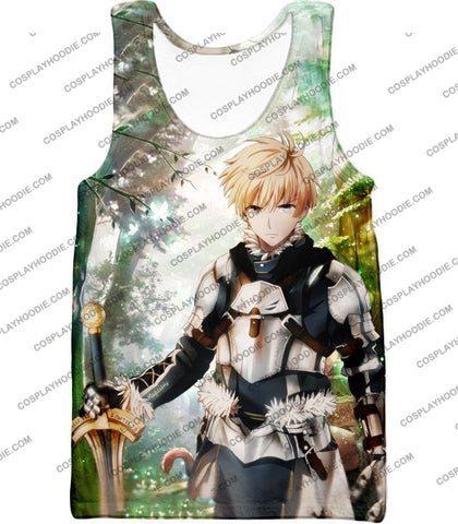 Image of Fate Stay Night Saber Class Male King Arthur Awesome T-Shirt Fsn069 Tank Top / Us Xxs (Asian Xs)