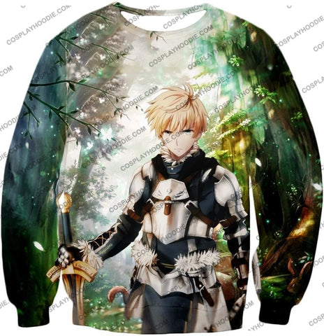 Image of Fate Stay Night Saber Class Male King Arthur Awesome T-Shirt Fsn069 Sweatshirt / Us Xxs (Asian Xs)