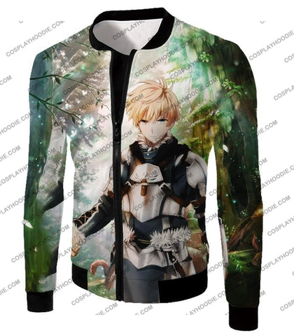 Image of Fate Stay Night Saber Class Male King Arthur Awesome T-Shirt Fsn069 Jacket / Us Xxs (Asian Xs)
