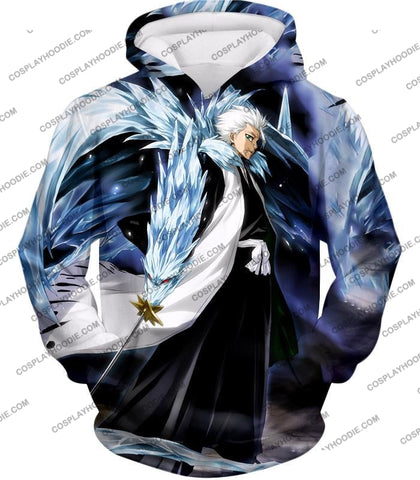 Image of Bleach Super Cool Shinigami Toshiro Hitsugaya Ultimate Action T-Shirt Bh007 Hoodie / Us Xxs (Asian