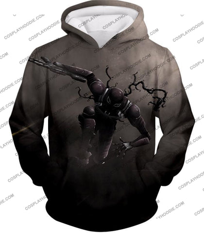 Alien Symbiote Life Venom Grey T-Shirt Ve007 Hoodie / Us Xxs (Asian Xs)