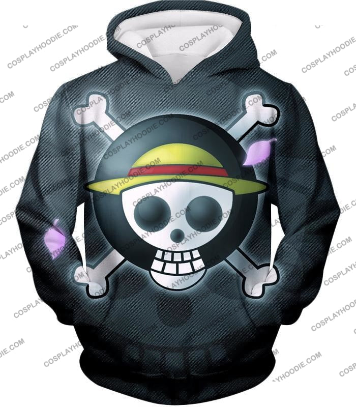 One Piece Super Cool Straw Hat Pirate Logo Promo T-Shirt Op007 Hoodie / Us Xxs (Asian Xs)
