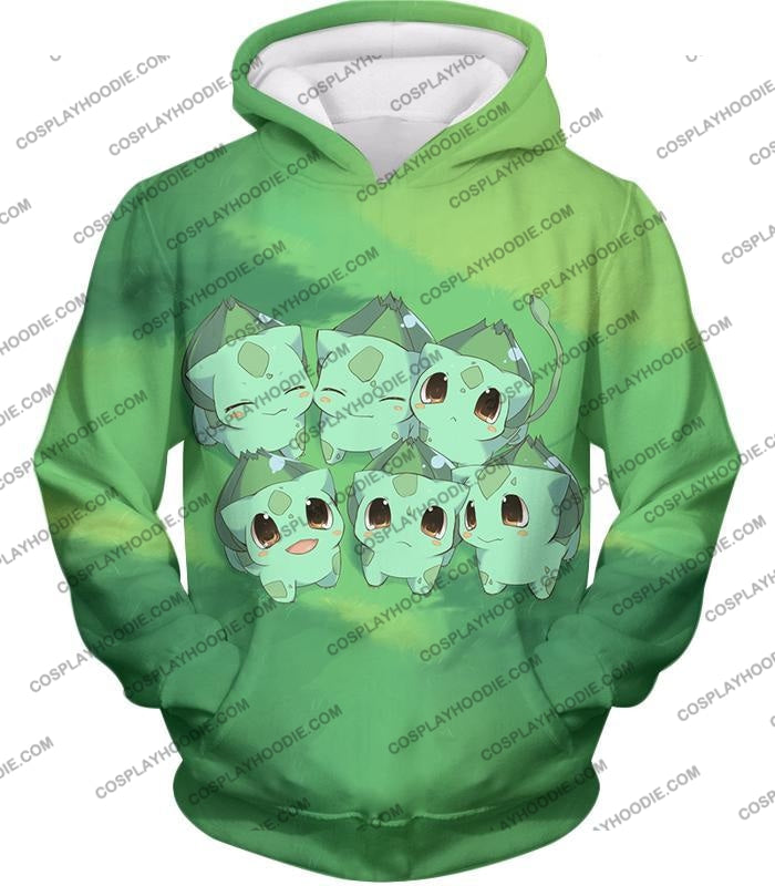 Pokemon Cute Baby Bulbasaur Cool Graphic T-Shirt Pkm157 Hoodie / Us Xxs (Asian Xs)