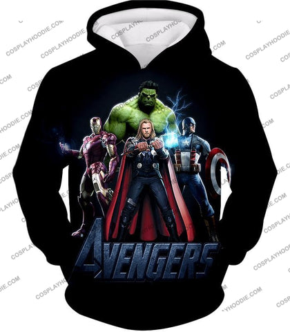 Image of The Avengers Earths Mightiest Heroes Promo T-Shirt Ta007 Hoodie / Us Xxs (Asian Xs)