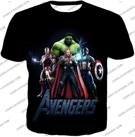 Image of The Avengers Earths Mightiest Heroes Promo T-Shirt Ta007 / Us Xxs (Asian Xs)
