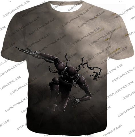Alien Symbiote Life Venom Grey T-Shirt Ve007 / Us Xxs (Asian Xs)