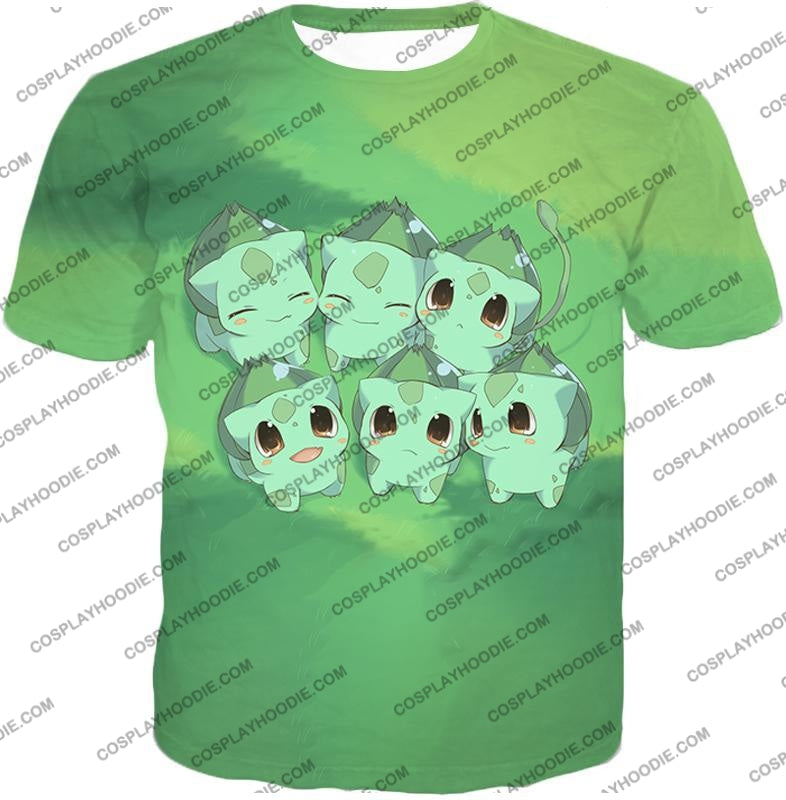 Pokemon Cute Baby Bulbasaur Cool Graphic T-Shirt Pkm157 / Us Xxs (Asian Xs)