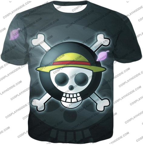 Image of One Piece Super Cool Straw Hat Pirate Logo Promo T-Shirt Op007 / Us Xxs (Asian Xs)