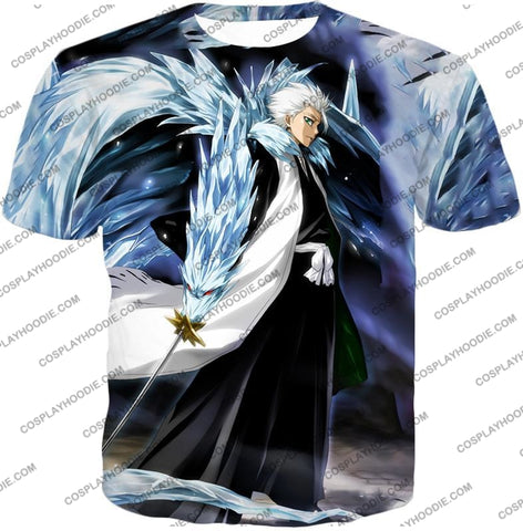Image of Bleach Super Cool Shinigami Toshiro Hitsugaya Ultimate Action T-Shirt Bh007 / Us Xxs (Asian Xs)