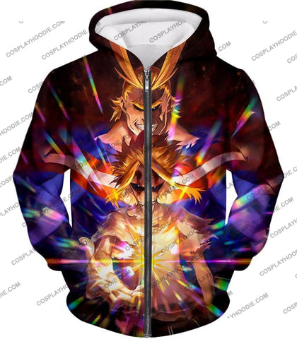 Image of My Hero Academia Number One All Might For Holder Cool Anime Graphic T-Shirt Mha057 Zip Up Hoodie /