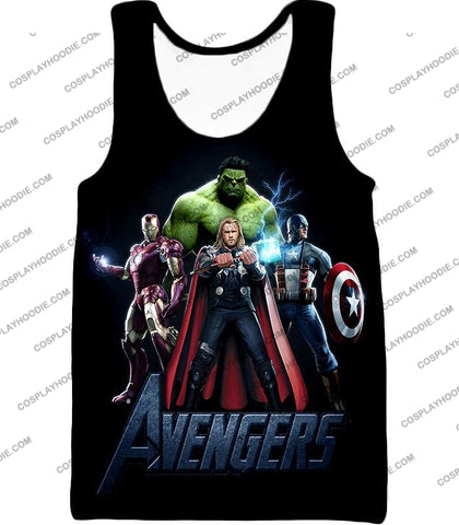 Image of The Avengers Earths Mightiest Heroes Promo T-Shirt Ta007 Tank Top / Us Xxs (Asian Xs)