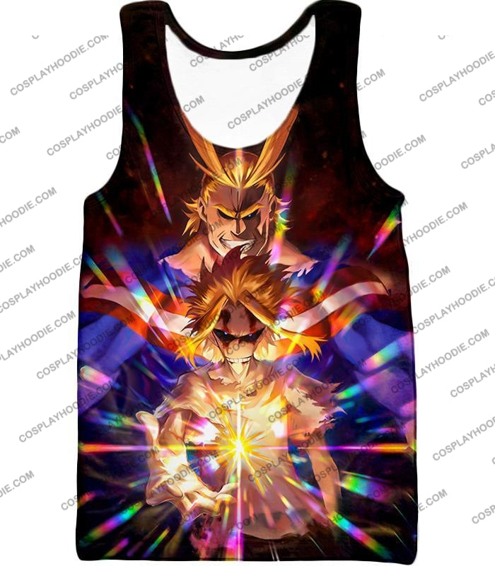 My Hero Academia Number One All Might For Holder Cool Anime Graphic T-Shirt Mha057 Tank Top / Us Xxs