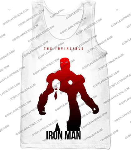 Image of Invincible Iron Man Promo Pure White T-Shirt Im007 Tank Top / Us Xxs (Asian Xs)