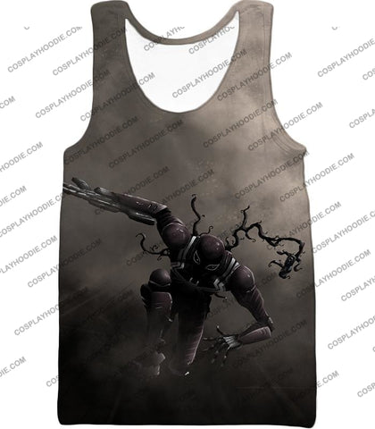 Alien Symbiote Life Venom Grey T-Shirt Ve007 Tank Top / Us Xxs (Asian Xs)