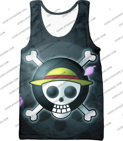 Image of One Piece Super Cool Straw Hat Pirate Logo Promo T-Shirt Op007 Tank Top / Us Xxs (Asian Xs)