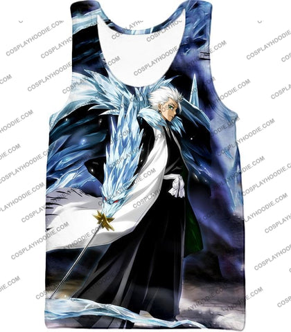 Image of Bleach Super Cool Shinigami Toshiro Hitsugaya Ultimate Action T-Shirt Bh007 Tank Top / Us Xxs (Asian