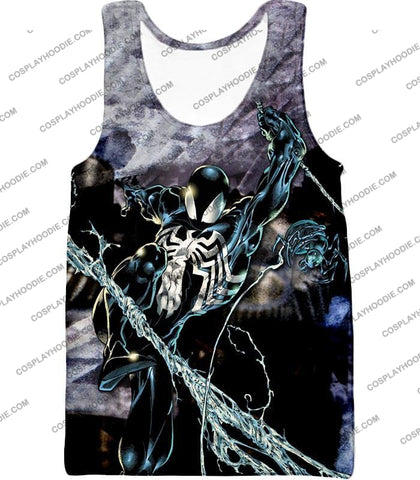 Image of Incredible Animated Venom Cool Action T-Shirt Sp007 Tank Top / Us Xxs (Asian Xs)