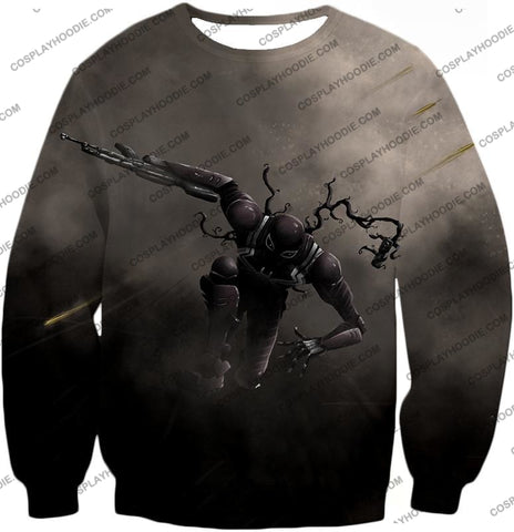 Alien Symbiote Life Venom Grey T-Shirt Ve007 Sweatshirt / Us Xxs (Asian Xs)