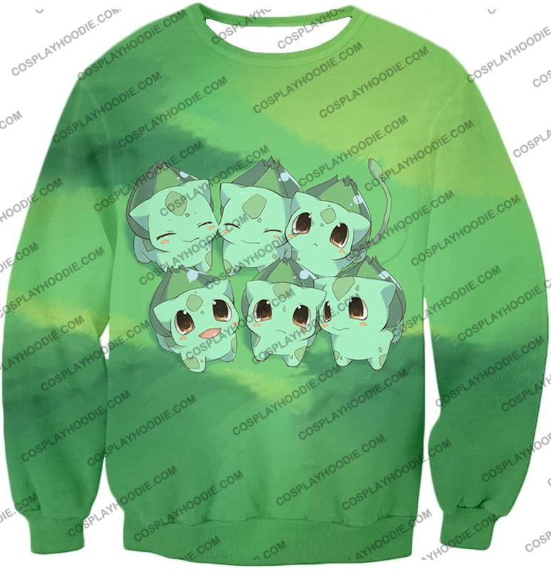 Pokemon Cute Baby Bulbasaur Cool Graphic T-Shirt Pkm157 Sweatshirt / Us Xxs (Asian Xs)