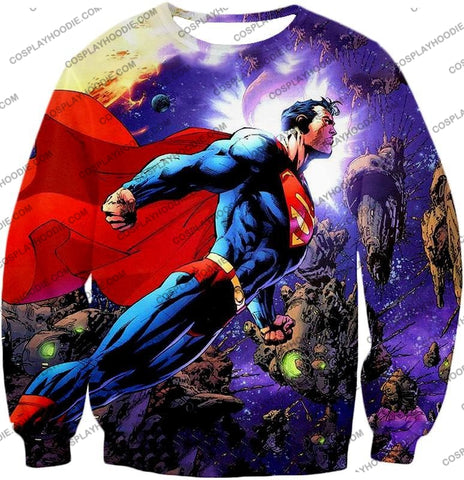 Image of Incredible Flying Superhero Superman The Animated Series Cool Promo T-Shirt Su007 Sweatshirt / Us