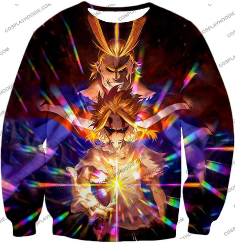 Image of My Hero Academia Number One All Might For Holder Cool Anime Graphic T-Shirt Mha057 Sweatshirt / Us