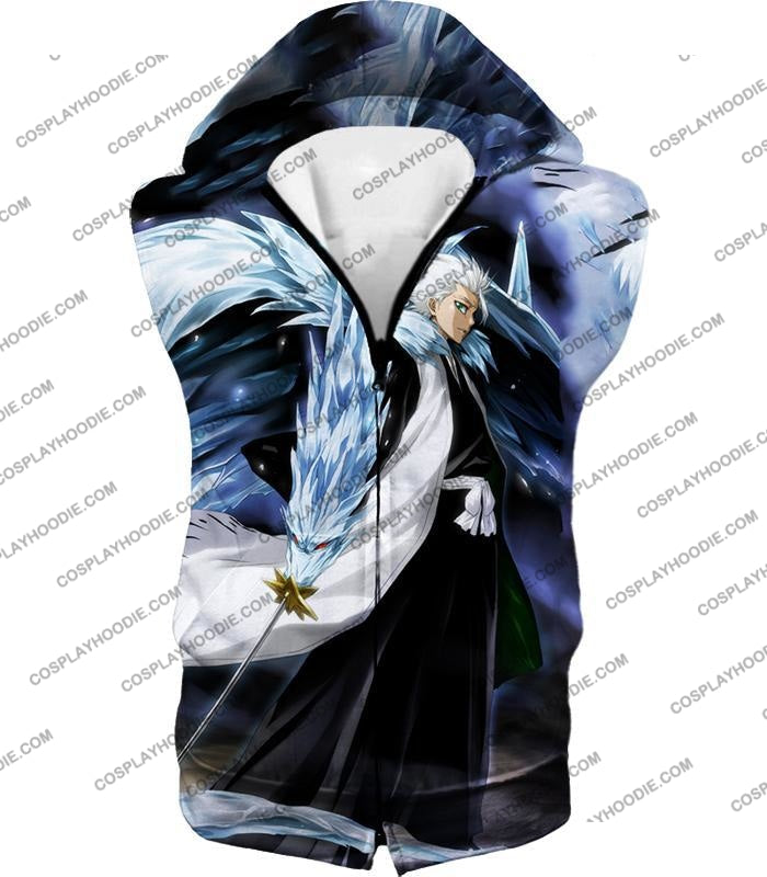 Bleach Super Cool Shinigami Toshiro Hitsugaya Ultimate Action T-Shirt Bh007 Hooded Tank Top / Us Xxs
