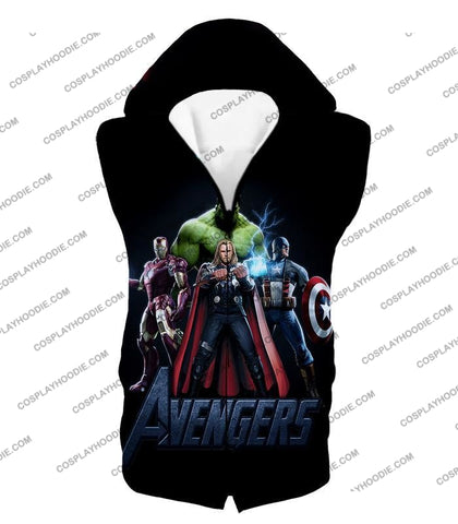 Image of The Avengers Earths Mightiest Heroes Promo T-Shirt Ta007 Hooded Tank Top / Us Xxs (Asian Xs)