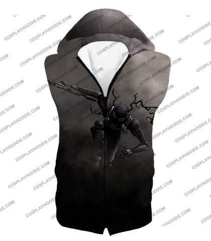 Alien Symbiote Life Venom Grey T-Shirt Ve007 Hooded Tank Top / Us Xxs (Asian Xs)