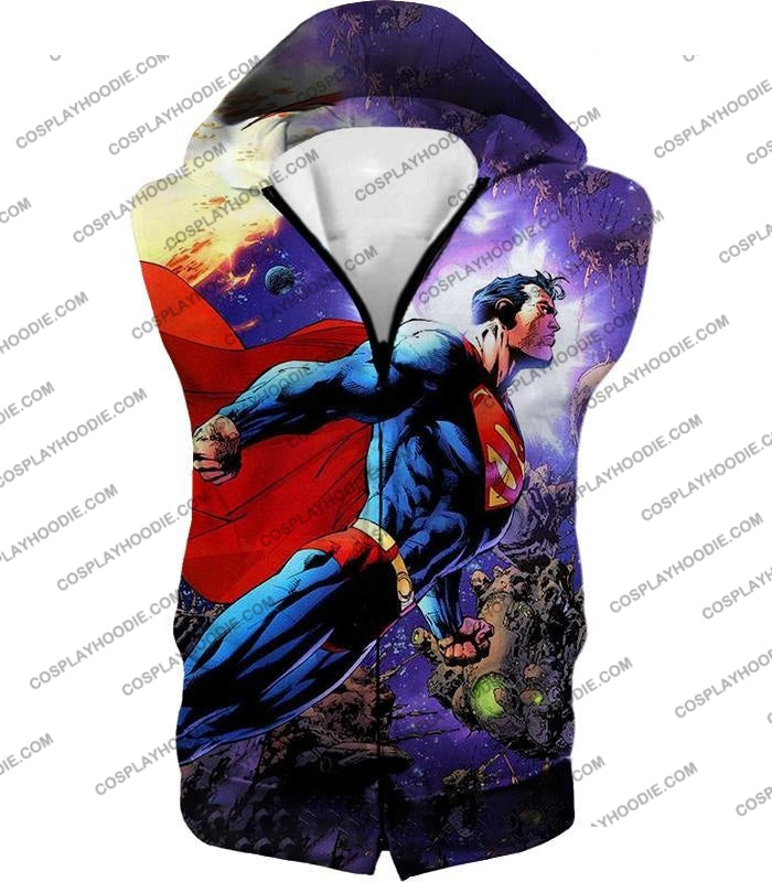 Incredible Flying Superhero Superman The Animated Series Cool Promo T-Shirt Su007 Hooded Tank Top /