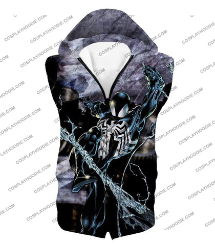 Image of Incredible Animated Venom Cool Action T-Shirt Sp007 Hooded Tank Top / Us Xxs (Asian Xs)