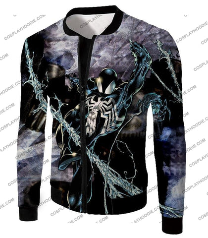 Image of Incredible Animated Venom Cool Action T-Shirt Sp007 Jacket / Us Xxs (Asian Xs)