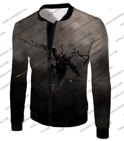 Alien Symbiote Life Venom Grey T-Shirt Ve007 Jacket / Us Xxs (Asian Xs)
