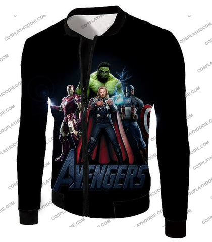 Image of The Avengers Earths Mightiest Heroes Promo T-Shirt Ta007 Jacket / Us Xxs (Asian Xs)