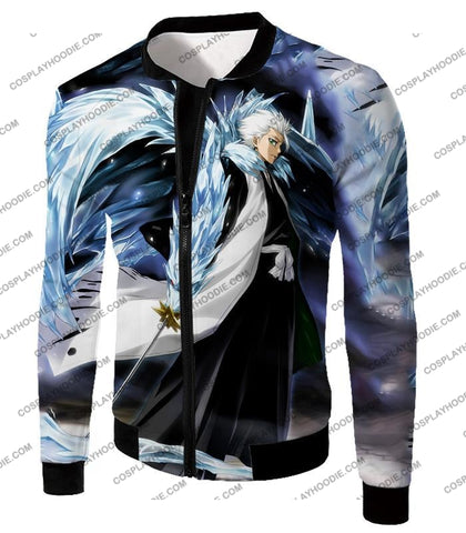 Image of Bleach Super Cool Shinigami Toshiro Hitsugaya Ultimate Action T-Shirt Bh007 Jacket / Us Xxs (Asian