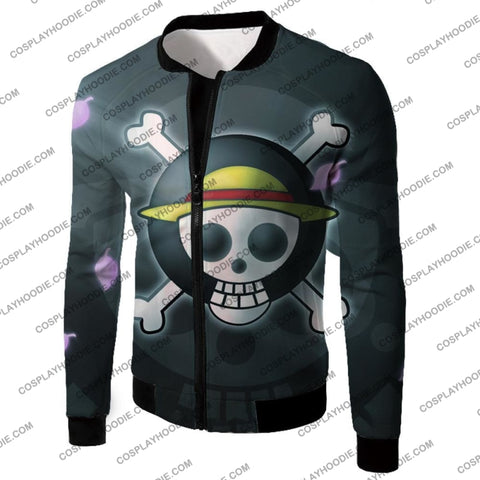 Image of One Piece Super Cool Straw Hat Pirate Logo Promo T-Shirt Op007 Jacket / Us Xxs (Asian Xs)