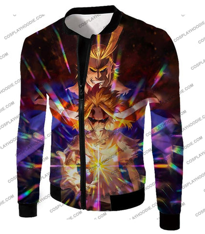 Image of My Hero Academia Number One All Might For Holder Cool Anime Graphic T-Shirt Mha057 Jacket / Us Xxs