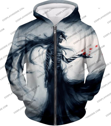 Image of Bleach Ichigos Amazing Bankai Technique Ichigo Mugetsu Form Ultimate Anime T-Shirt Bh070 Zip Up