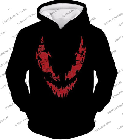 Image of Blood Red Spiderman Villain Carnage Promo Black T-Shirt Sp071 Hoodie / Us Xxs (Asian Xs)