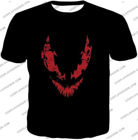 Image of Blood Red Spiderman Villain Carnage Promo Black T-Shirt Sp071 / Us Xxs (Asian Xs)