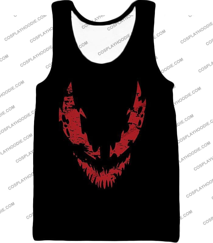 Blood Red Spiderman Villain Carnage Promo Black T-Shirt Sp071 Tank Top / Us Xxs (Asian Xs)