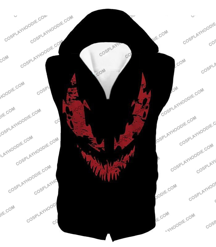 Blood Red Spiderman Villain Carnage Promo Black T-Shirt Sp071 Hooded Tank Top / Us Xxs (Asian Xs)