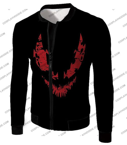 Image of Blood Red Spiderman Villain Carnage Promo Black T-Shirt Sp071 Jacket / Us Xxs (Asian Xs)